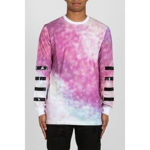 HOOD BY AIR PINK & PURPLE TIE DYE PULL OVER